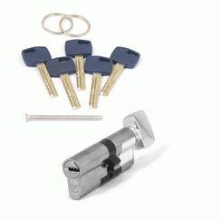 Цилиндровый механизм Апекс Premier XR-90 (40C/50)-C15-NI никель кл/верт. перфо