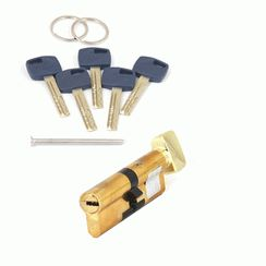 Цилиндровый механизм Апекс Premier XR-90-C15-G  золото кл/верт. перфо