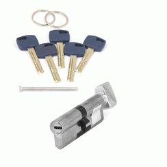 Цилиндровый механизм Апекс Premier XR-90-C15-NI  никель кл/верт. перфо