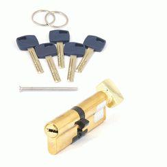 Цилиндровый механизм Апекс Premier XR-100 (45/55C)-C15-G   золото кл/верт. перфо