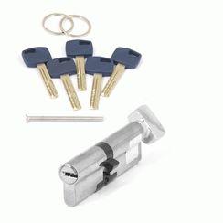 Цилиндровый механизм Апекс Premier XR-100 (45/55C)-C15-NI  никель кл/верт. перфо