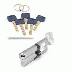 Цилиндровый механизм Апекс Premier XR-100 (45C/55)-C15-NI никель кл/верт. перфо