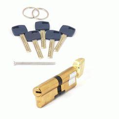 Цилиндровый механизм Апекс Premier XR-100-C15-G  золото кл/верт. перфо
