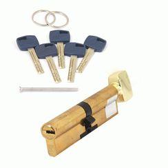 Цилиндровый механизм Апекс Premier XR-110-C15-G  золото кл/верт. перфо