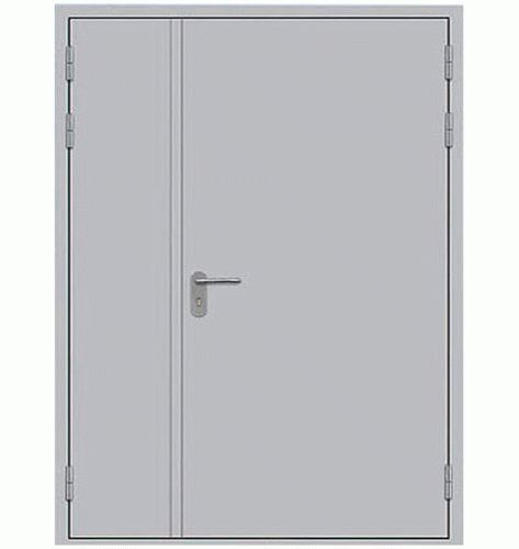 Противопожарная дверь двустворчатая сплошного сечения