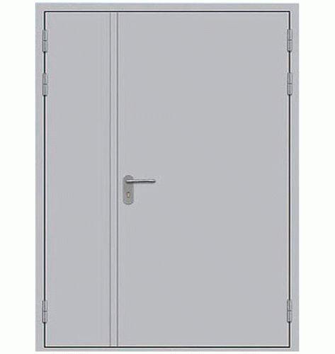 Противопожарная дверь двупольная (сплошное сечение)