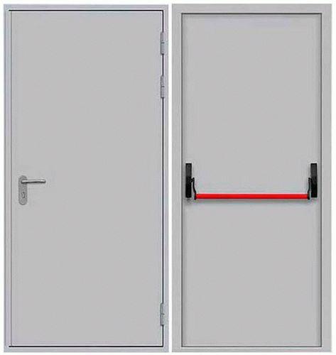 Противопожарная металлическая дверь одностворчатая сплошного сечения