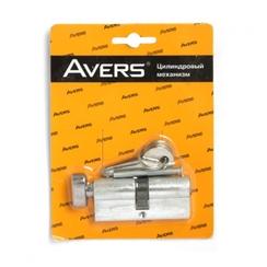 Цилиндровый механизм AVERS EL-70-C-NI-Blister англ. кл/верт. 5кл.