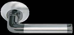 Дверная ручка Моrelli Колонна DIY MH-03 SN/BN белый никель/черный никель
