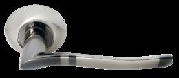 Дверная ручка Morelli Фонтан DIY MH-04 SN/BN белый никель/черный никель