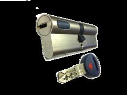 Цилиндровый механизм Мauer New Wave 4 ключ-ключ-L=97мм/41-56/,цвет никель, 5 ключей