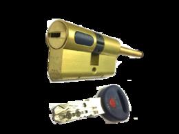 Цилиндровый механизм Мauer New Wave 4 шток-ключ-L=62мм/31-31/цвет латунь, 5 ключей (шток 70мм, ф8)