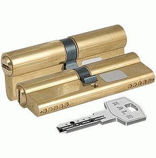 Цилиндровый механизм Kale 164 BN/100 45х10х45 латунь перфорированный ключ