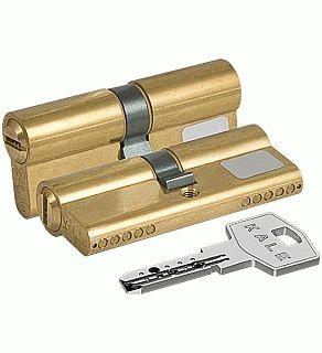 Цилиндровый механизм Kale164 BN/62 26х10х26 латунь перфорированный ключ
