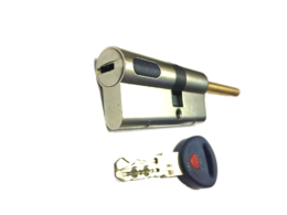 Цилиндровый механизм Мauer New Wave 4 шток-ключ-L=72мм/31-41/цвет никель, 5 ключей (шток 70мм, ф8)