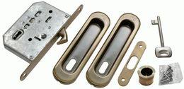 Комплект для раздвижных дверей Morelli MHS150 L AB бронза