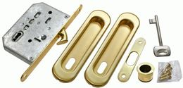 Комплект для раздвижных дверей Morelli MHS150 L SG матовое золото