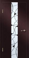 Ламинированная дверь Гранд с зеркалом