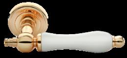 ,Дверная ручка Morelli MH-42-CLASSIC PG/W золото/белый