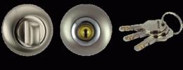 Сантехническая завертка с ключом RENZ BK-K 08 SN/NP никель мат./никель блест.