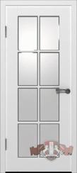 """Дверь межкомнатная """"Порта"""" белая эмаль со стеклом"""
