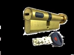 Цилиндровый механизм Мauer New Wave 4 вертушка-ключ-L=87мм/46х41/,цвет латунь, 5 ключей