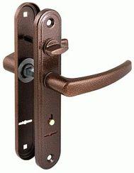 Комплект дверных  ручек Гардиан   4112 Вега медь антик к замку  3012