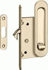 Ручки с замком для раздвижных дверей  латунь матовая SDH-BK 501 SG