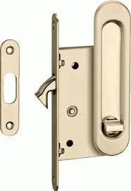 Ручки с замком для раздвижных дверей TIXX латунь матовая SDH-BK 501 SG