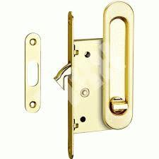 Ручки с замком для раздвижных дверей  латунь блестящая SDH-BK 501 GP