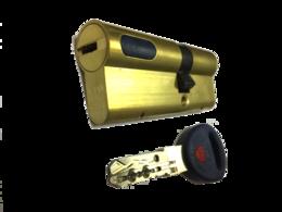 Цилиндровый механизм Мauer New Wave 4 ключ-ключ-L=77мм/31-46/,цвет латунь, 5 ключей