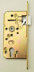 Замок врезной LOB с угловой планкой с пласт. накладкой LOB RK73-07, золото под сантехническую завертку  LOB ECO Z7504-C13L7 Польша